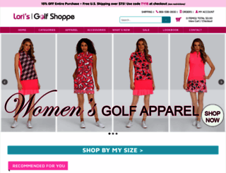 lorisgolfshoppe.com screenshot