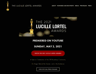 lortelaward.com screenshot