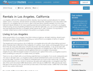 los-angeles.apartmenthunterz.com screenshot
