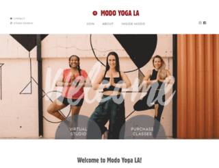 los-angeles.modoyoga.com screenshot