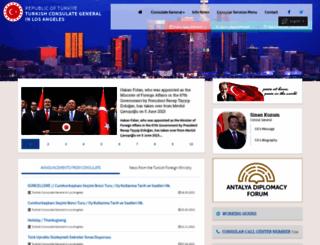 losangeles.cg.mfa.gov.tr screenshot