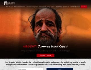 losangelesmission.org screenshot