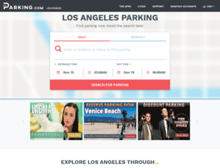 losangelesparking.spplus.com screenshot
