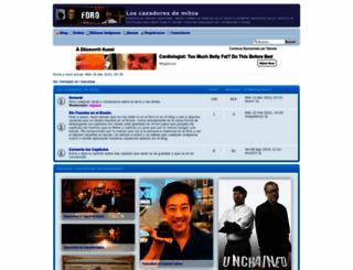 loscazadoresdemitos.foroactivo.com screenshot