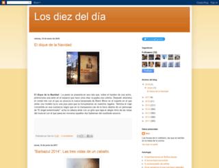 losdiezdeldia.blogspot.com screenshot