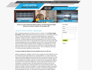 losgatosgaragedoorrepair.biz screenshot