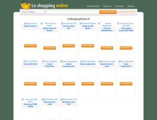 loshoppingonline.it screenshot
