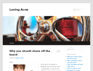 losingacne.com screenshot