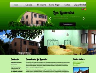 loslaurelescasarural.com screenshot