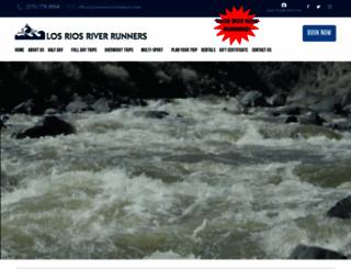 losriosriverrunners.com screenshot