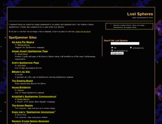 lost.spelljammer.org screenshot