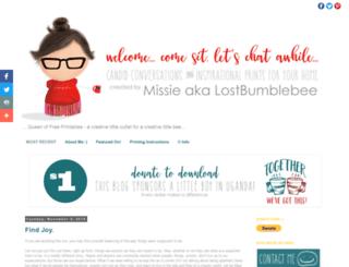 lostbumblebee.blogspot.ca screenshot
