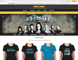 lostgirl.goldlabelgoods.com screenshot