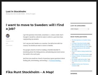 lostinstockholm.com screenshot