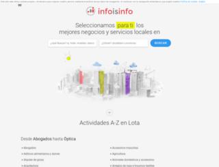 lota.infoisinfo.cl screenshot