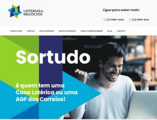 loteriasnegocios.com.br screenshot