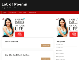 lotofpoems.com screenshot
