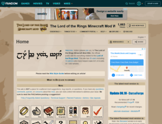 lotrminecraftmod.wikia.com screenshot