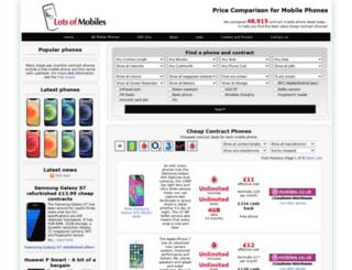 lotsofmobiles.co.uk screenshot