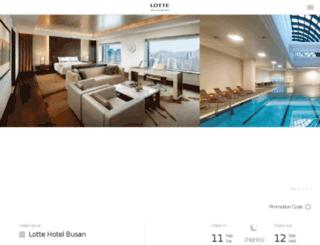 lottehotelbusan.com screenshot