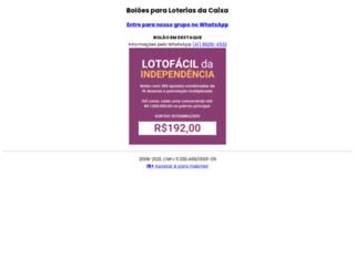 lotterias.com.br screenshot