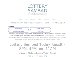 lottery-sambad.com screenshot