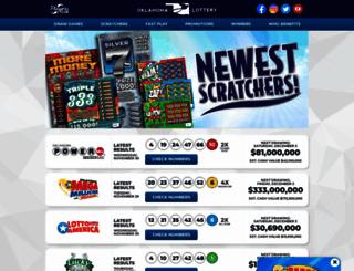 lottery.ok.gov screenshot