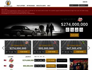 lotteryclub.com screenshot