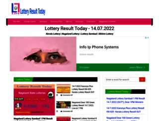 lotteryresulttoday.com screenshot