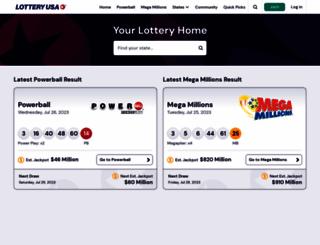 lotteryusa.com screenshot