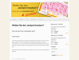 lotto-auskunft.de screenshot
