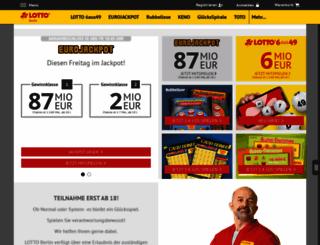lotto-berlin.de screenshot