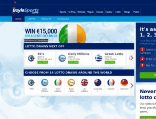 lotto.boylesports.com screenshot