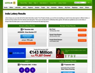 lotto.in screenshot