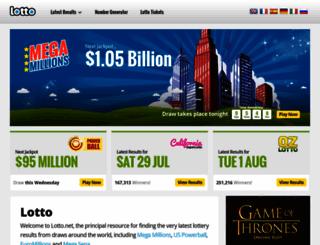 lotto.net screenshot