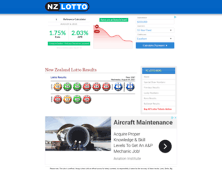 lotto.nzpages.co.nz screenshot