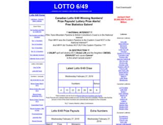 lotto649stats.com screenshot