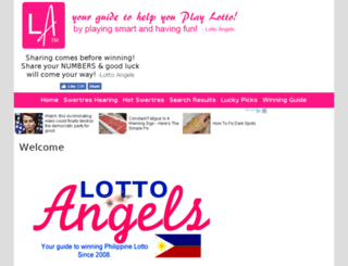 lottoangels.com screenshot