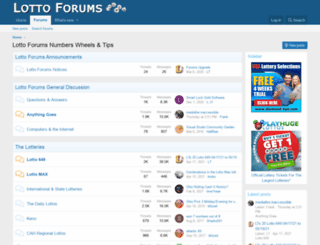 lottoforums.com screenshot