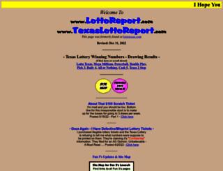 lottoreport.com screenshot