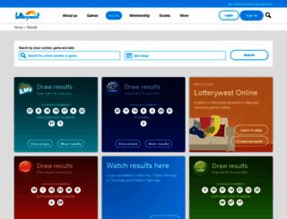 lottoresults.net screenshot