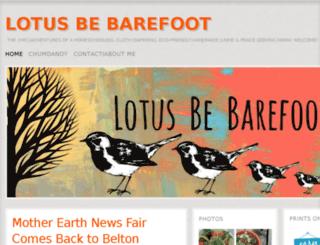 lotusbebarefoot.com screenshot