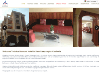 lotusdiamondhotel.com screenshot
