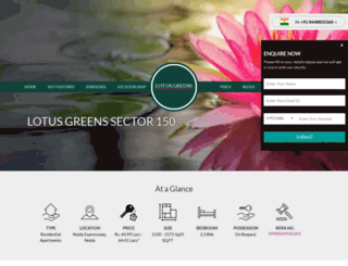 lotusgreenssector150.com screenshot