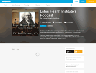 lotushealthinstitute.podomatic.com screenshot