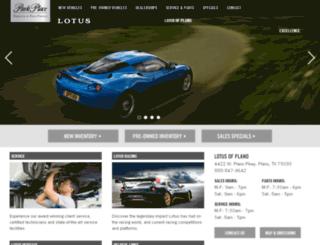 lotusplano.parkplace.com screenshot