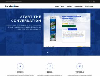 loudervoice.com screenshot