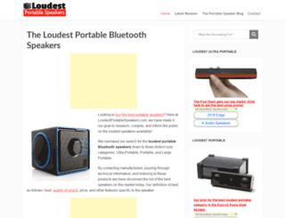 loudestportablespeakers.com screenshot