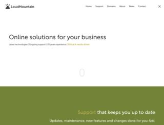 loudmountain.com.au screenshot