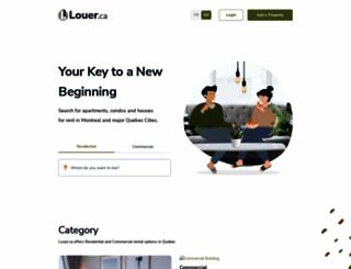 louer.com screenshot